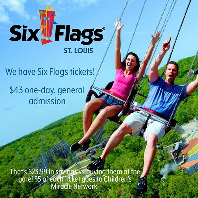 We Have Six Flags Tickets Stop By Your Local Branch To Purchase One Day General Admission Tickets Admission Ticket General Admission Company Culture