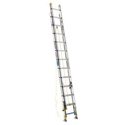 Werner The Equalizer® 24-ft Type II Aluminum Extension Ladder