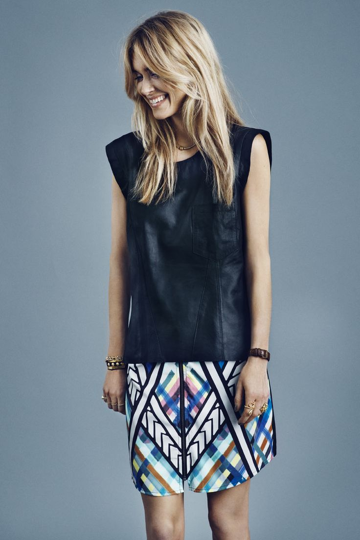 Y.A.S Invasion leather tee, Attica skirt #yasapparel