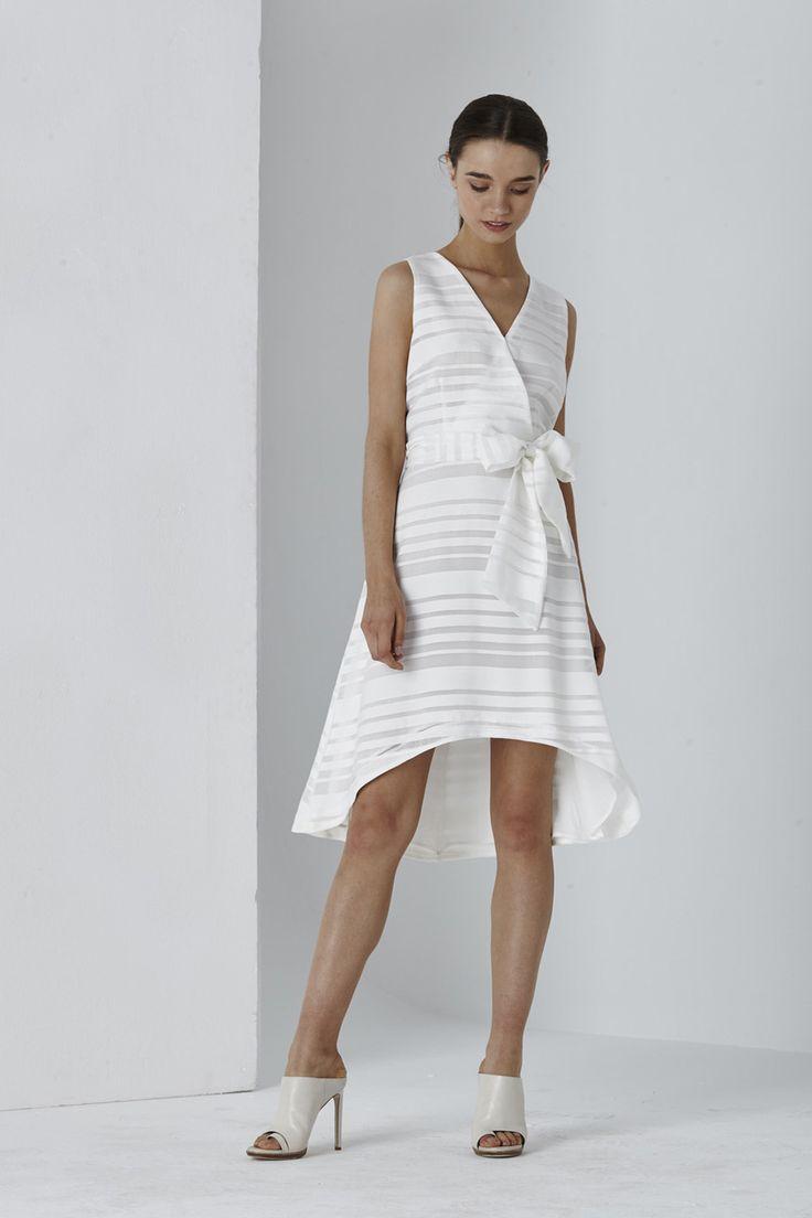 Shilla the Label - Dolce Organza Stripe Tie Dress