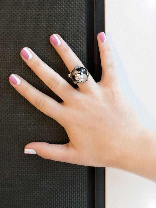Chanel Nail Art How–To: The New French Manicure  - MarieClaire.com