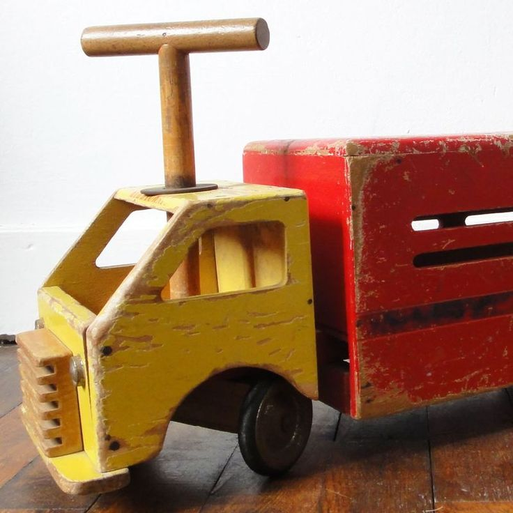 camion porteur Kiddicraft années 40/50 vintage Kiddicraft ride-on wooden truck