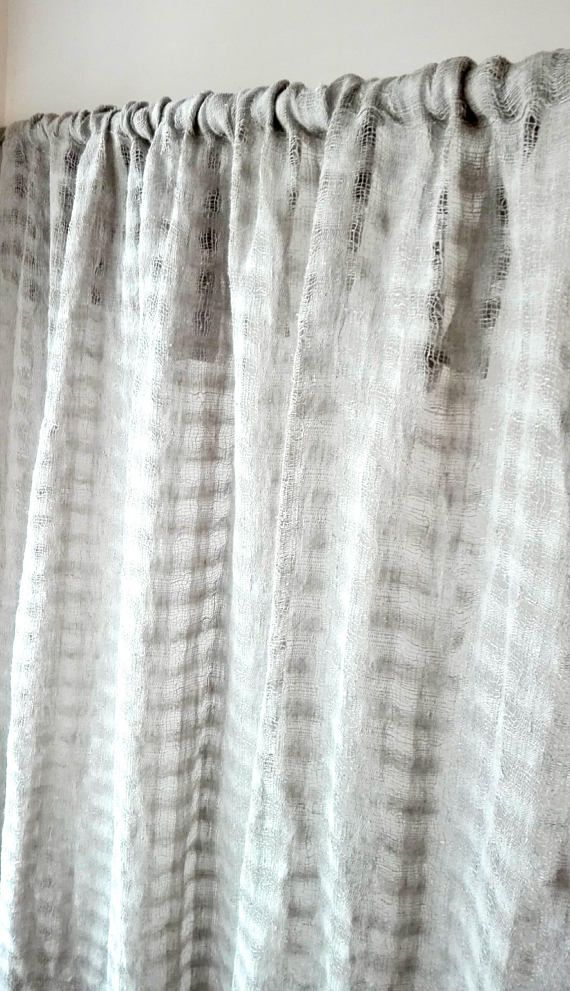 Eco curtains/Rustic linen panel Raw linen curtain panel Country style linen curtains Modern linen curtain Natural uncolored pure linen curtain panel These curtains are so beautiful & add such an authentic farmhouse feel to your home! Product Details: Sheer/textured linen curtains