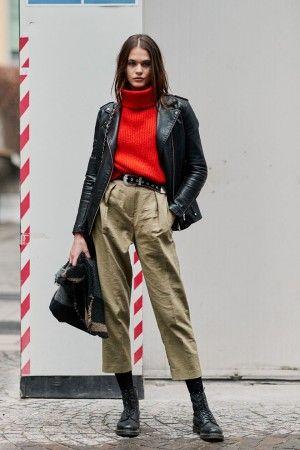 e71bfcf4700 Street style на неделе моды в Милане осень-зима 2018-2019