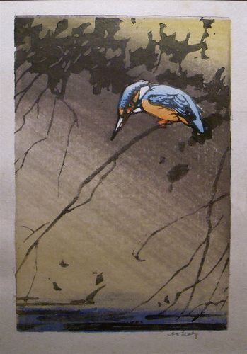 Small Kingfisher Color Woodblock / Allen W. Seaby by typesticker, via Flickr