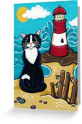 Tarjeta de felicitación 'Lighthouse View' de Lisa Marie Robinson