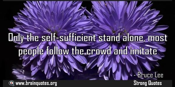 25+ Best Self Sufficient Quotes On Pinterest