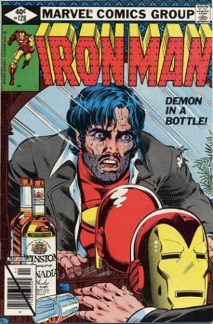 """Issues #120 through #128 of The Invincible Iron Man Vol. 1, published by Marvel Comics in 1978-79 and collected in trade paperback, represents one of ole' shellhead's most controversial (for its time), important, and character defining storylines. The storyline """"Demon in a Bottle"""" was crafted by David Michelinie and Bob Layton. (Frisk. A, 2010)"""