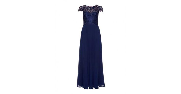 Review Australia | Casino Lace Maxi Dress in Navy Navy