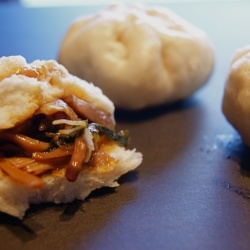 Mushroom and Lily Bao  - A vegan take on the classic Korean street food.