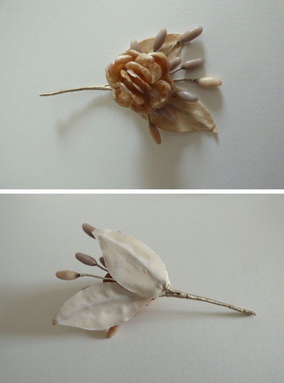 Antique Wax Flower Bouquet Unique Groom Por Giardinodininfa