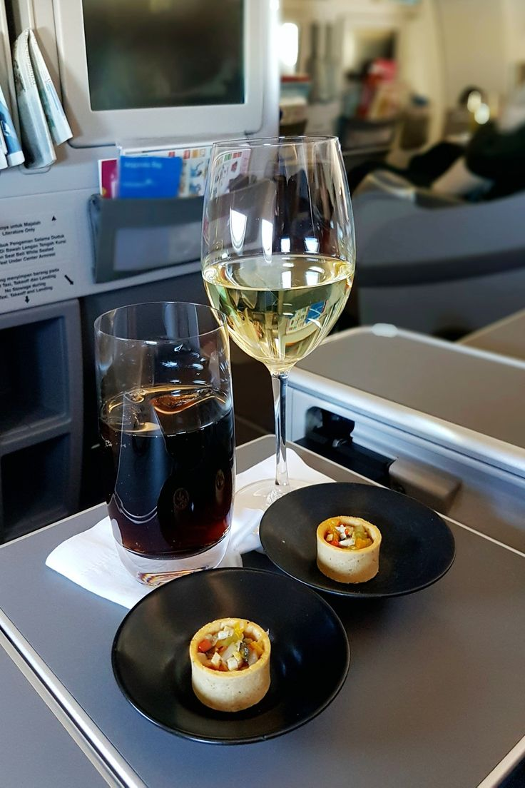"""Coke & Champagne"", In Flight Garuda Indonesia, Melbourne - Jakarta"
