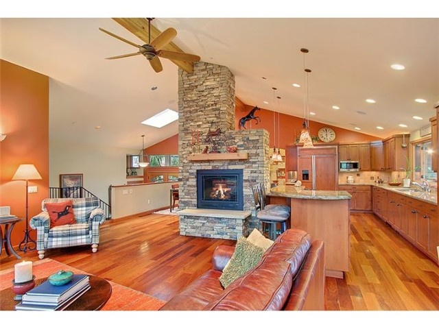Fireplace Like Idea Of It Being In Between Kitchen And Living Space Make Fire Place Double Sided