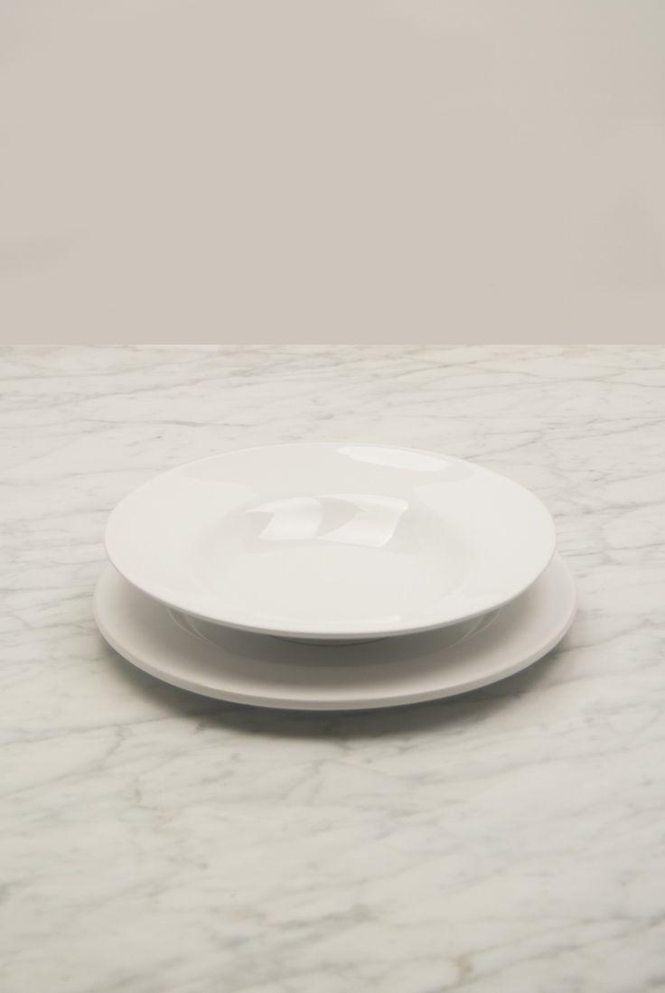Conjunto de vajilla en porcelana blanca para 6 comensales - Platos porcelana blanca ...