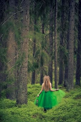 A fairy in green forest. Available as poster at printler.com, the marketplace for photo art. Photography Madeleine Forsgren.