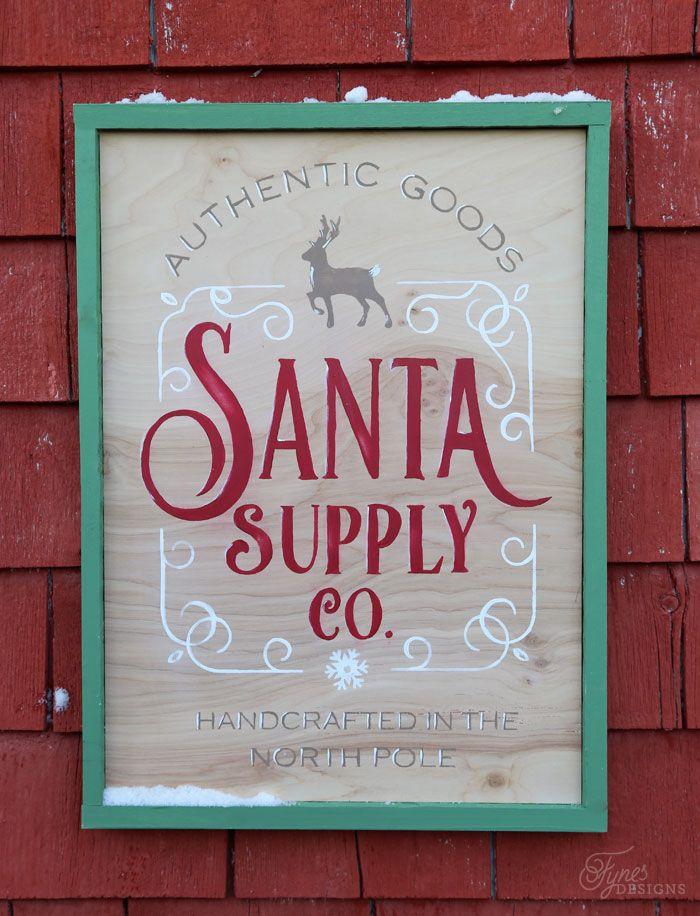 Santa Supply Company FREE Christmas Silhouette Cut File