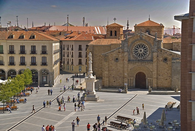 St. Therese Square Avila, Spain. One of my favorite places.