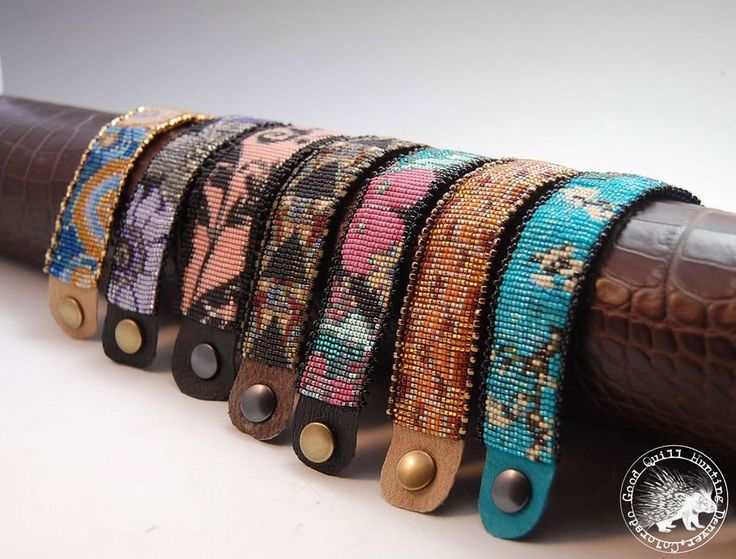 One A Day Loomed Bracelet Patterns 7 Designs-30 pages