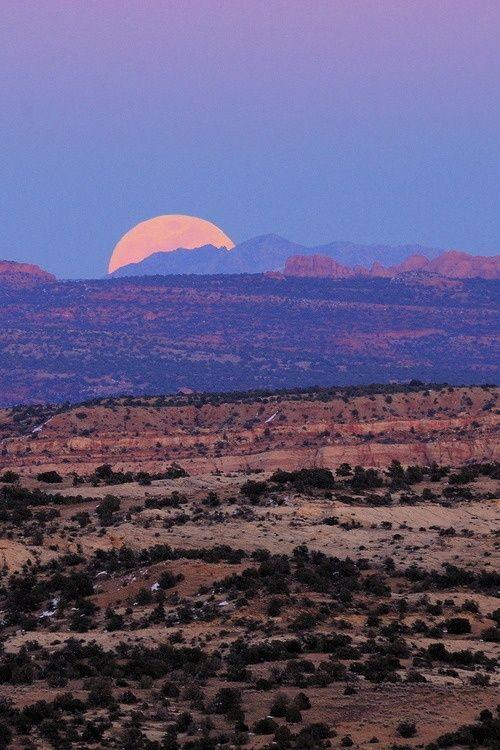 Desert sunset, the heat. The wild west.