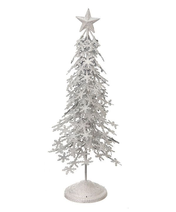 Look at this Metallic Snowflake Tree on #zulily today!