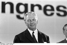 Kurt Georg Kiesinger was Chancellor of West Germany from 1 December 1966 until 21 October 1969.