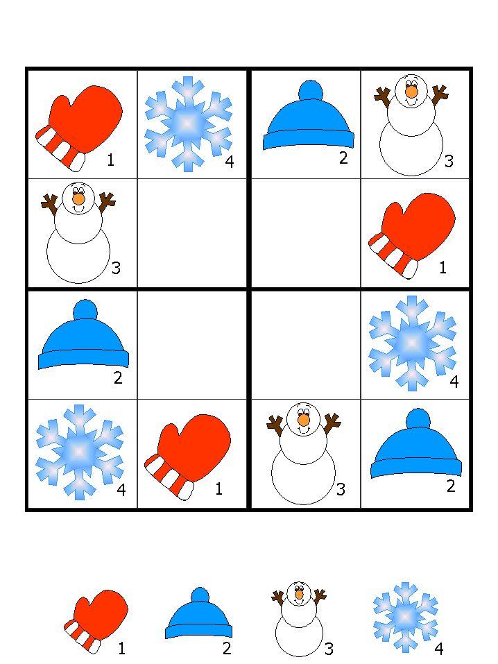 çocuklar için keyifli renkli sudoku sayfaları