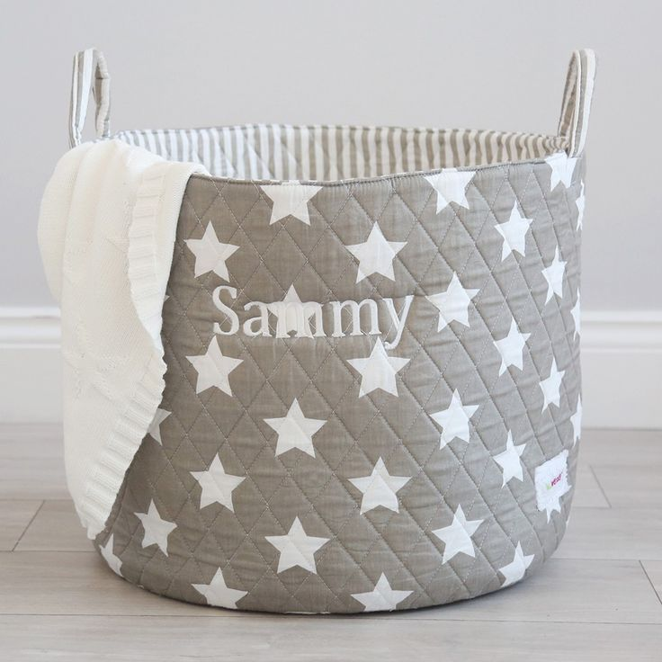 Personalised Grey Star Storage Bag