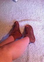 sandały brązowe bershka