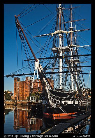 USS Constitution, Boston Historical Park. Boston, Massachussets, USA