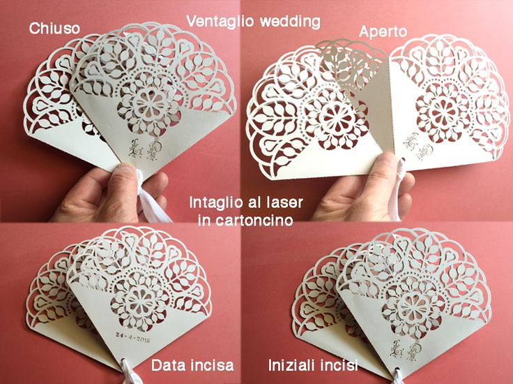 Ventaglio Wedding. Laser cut