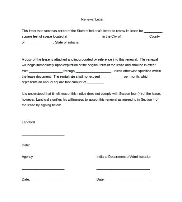 Commercial Lease Renewal Letter To Landlord from i.pinimg.com
