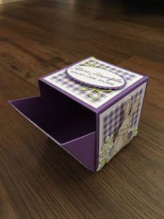 Bastelwahnsinn: österliche Box mit Hase – #Bastelwahnsinn #box #giftcards #Hase…