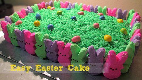 Peeps Easter Cake   Easy Desserts