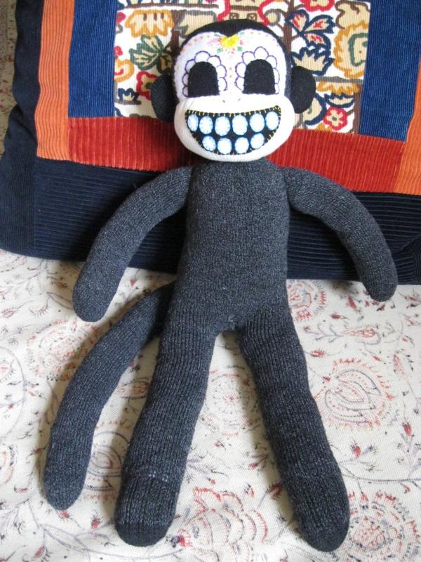 Day of the Dead Sock Monkey