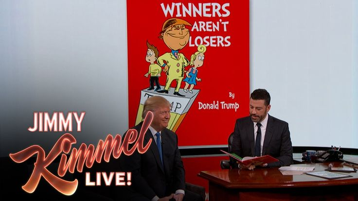 VIDEO: Jimmy Kimmel recites Donald Trump's childrens' book on air. The whole video is great, but the childrens' book recital starts at the 3:00 mark ⋆ Powdered Wig Society