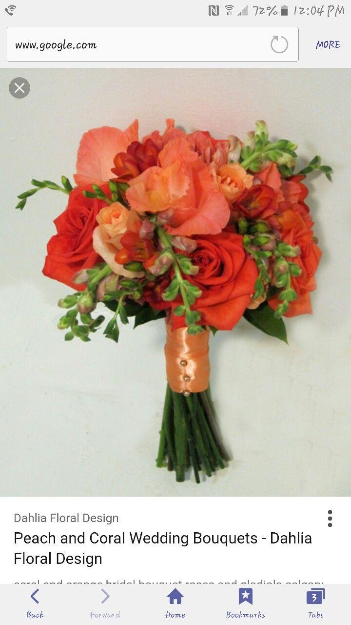 56 best snapdragon wedding flowers images on pinterest wedding coral peach salmon roses wedding flower bouquet with gladiola izmirmasajfo