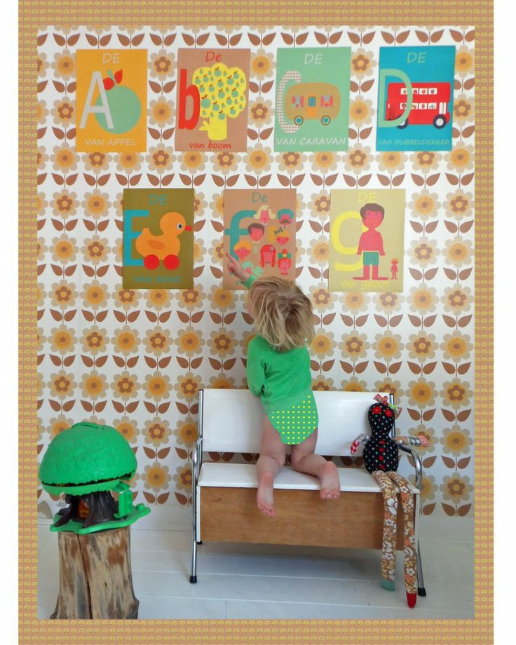 #kinderkamer #illustraties Posters A-Z Soetwaren.nl
