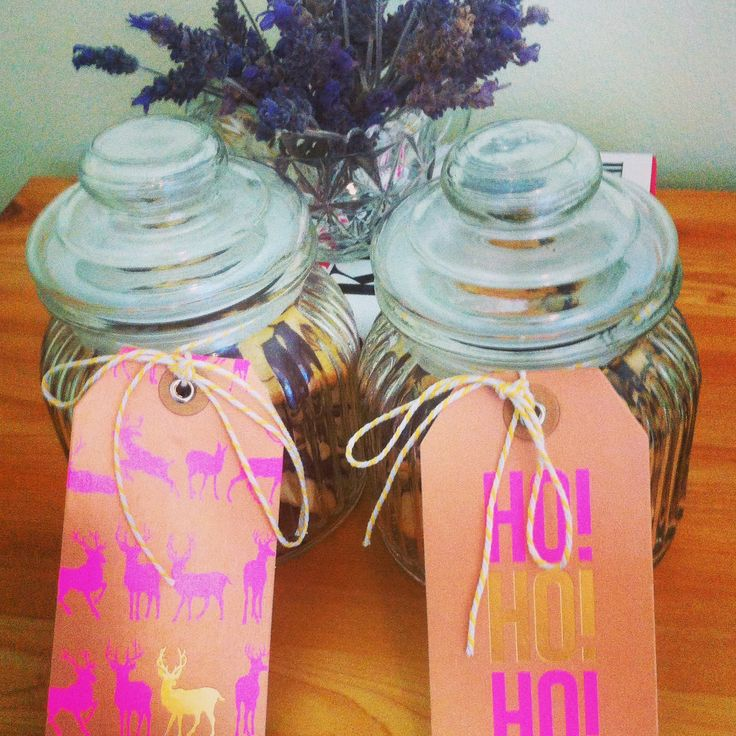 #whatsbardybeenbaking jars filled with chocolate shortbread