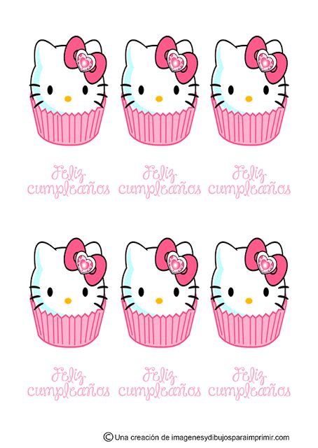 Pegatinas de feliz cumplea os de hello kitty imagenes y - Imagenes de fiestas de cumpleanos ...