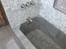 Roman Style Tub, Tile Bathtub, Custom Tile Bathtub, And Roman Tub.
