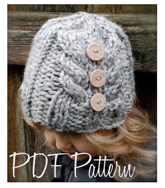 Knitting PATTERNThe Irelynn Hat Toddler Child by Thevelvetacorn, $5.50