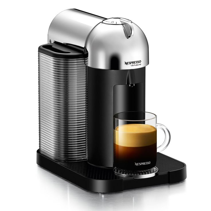 Nespresso Vertuoline GCA1-CH The new Nespresso Vertuoline single serve coffee maker uses Centrifusion technology for perfect coffee brewing.   It is the first coffee maker of its kind to brew 1.4 ounce espressos and 7.7-ounce large cup american style coffees.