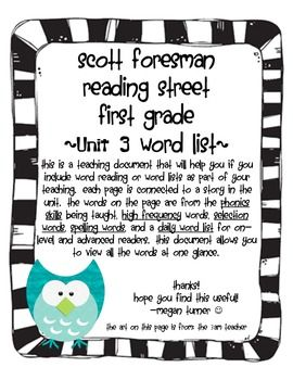 48 best reading street grade 1 images on pinterest reading street this is a teaching document that will help you if youinclude word reading or word lists fandeluxe Images