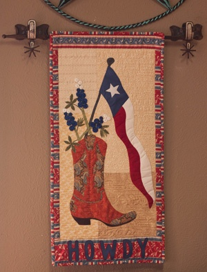 Howdy Texas Wallhanging We love designing new wall hangings to hang on our exclusive spur hanger