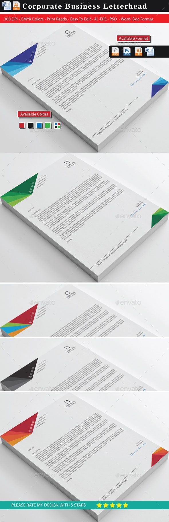 Modern 20 Business Letterhead 20 best