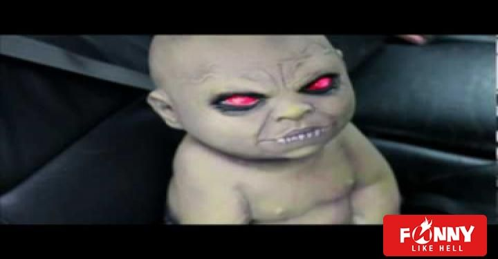 Baby in Car Scary Prank Video #scary #pranks #video #baby