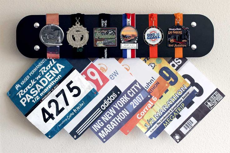 Custom Color Race Medal Bib Display - Available in 11 Colors