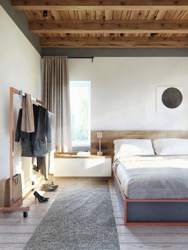 Quarto Forro Em Madeira Scandinavian Apartment