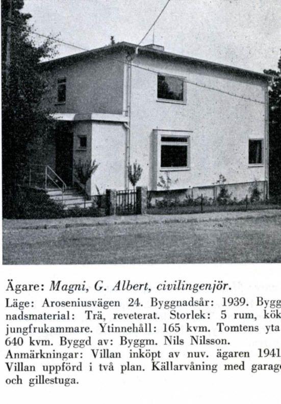 Södra Ängby - Aroseniusvägen 24