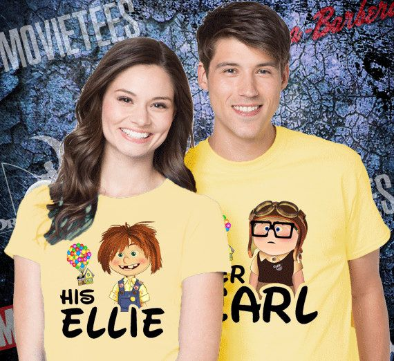 Hey, I found this really awesome Etsy listing at https://www.etsy.com/listing/504019103/up-carl-and-ellie-couples-disney-t-shirt